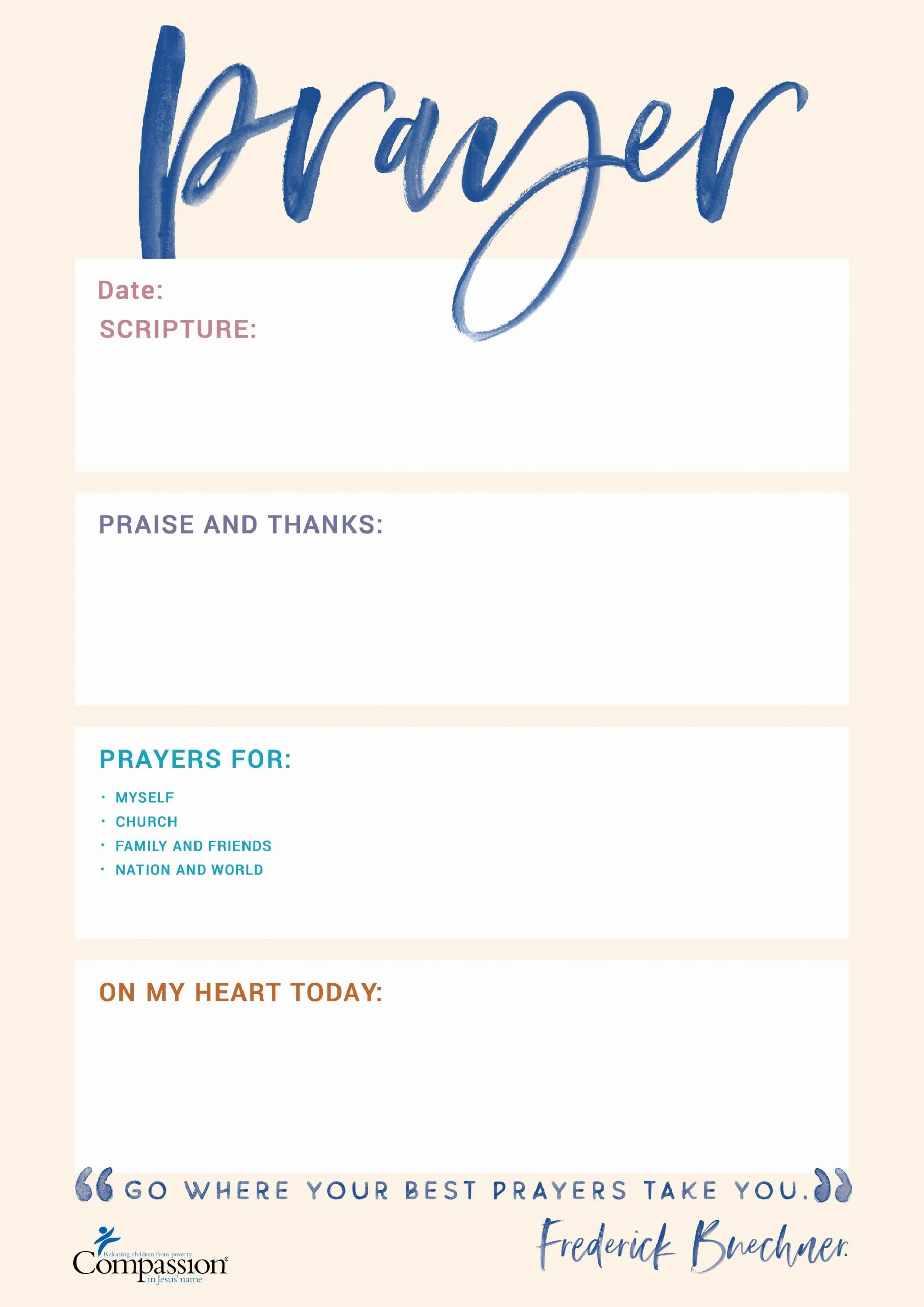 Prayer Request Cards Pdf Awesome Your Free Prayer Journal Templates