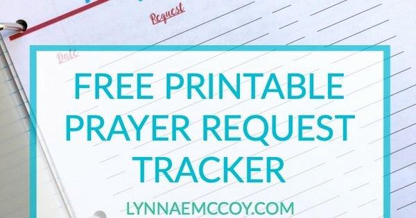 Prayer Request Cards Pdf Elegant Free Printable Prayer Request Tracker