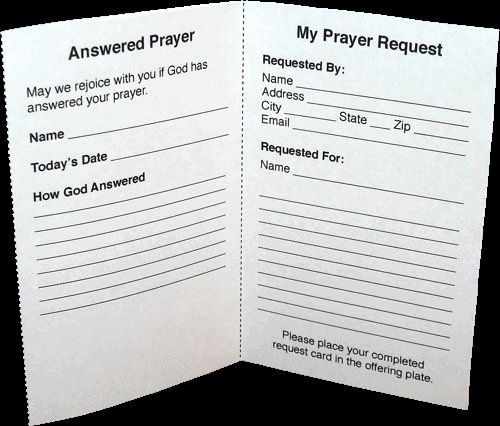 Prayer Request Cards Pdf Fresh the O Jays Card Templates and Prayer Request On Pinterest