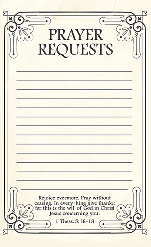 Prayer Request form Template Awesome Free Printable Prayer Request forms