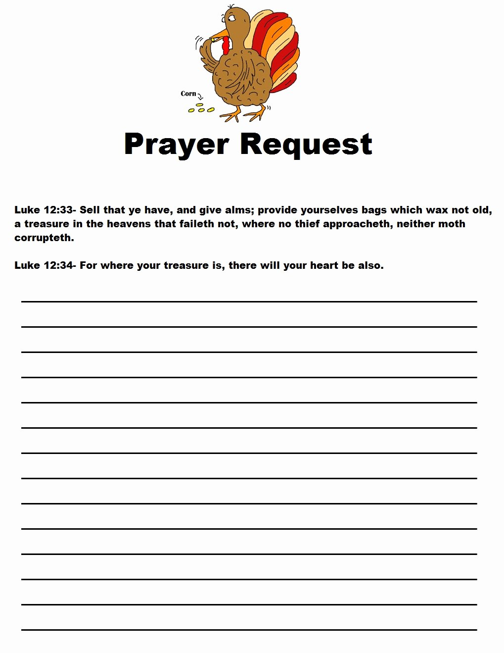Prayer Request form Template Lovely Thanksgiving Legend Sunday School Lesson