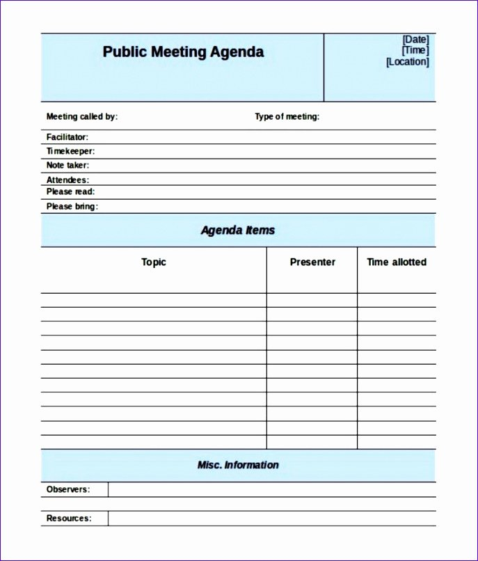 Pre Construction Meeting Agenda Template Awesome 6 Meeting Minutes Template Excel Exceltemplates