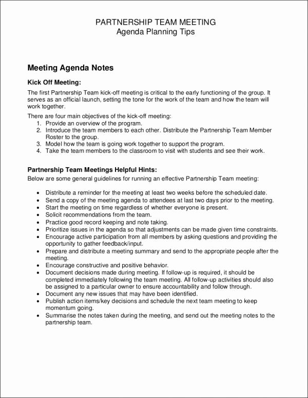 Pre Construction Meeting Agenda Template Inspirational Free 14 Meeting Agenda Samples & Templates