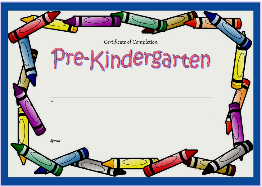 Pre K Certificate Templates Beautiful 10 Free Editable Pre K Graduation Certificates [word Pdf]