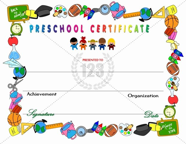 Pre K Certificate Templates Fresh Amazing Preschool Certificates for Your Kids