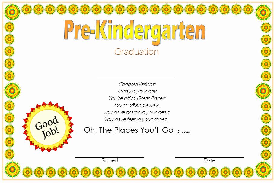 Pre K Certificate Templates Inspirational 10 Free Editable Pre K Graduation Certificates [word Pdf]