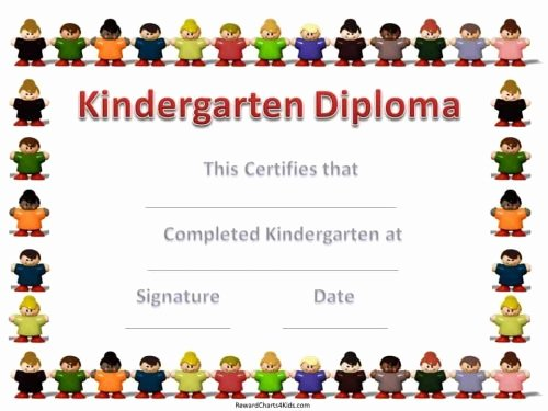 Pre K Certificate Templates Luxury Kindergarten Certificates