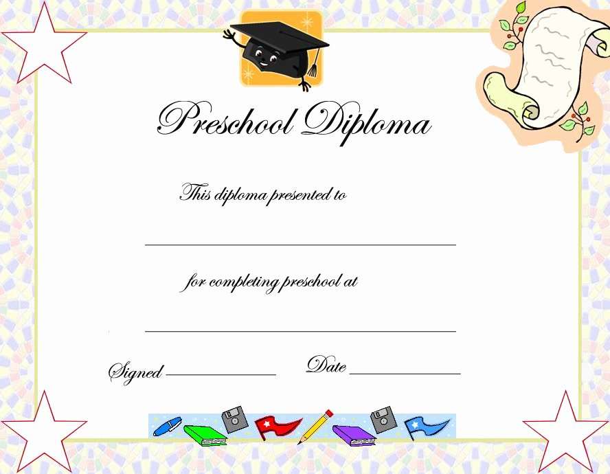 Pre K Certificate Templates New Free Printables Preschool Diploma Graduation Invitations