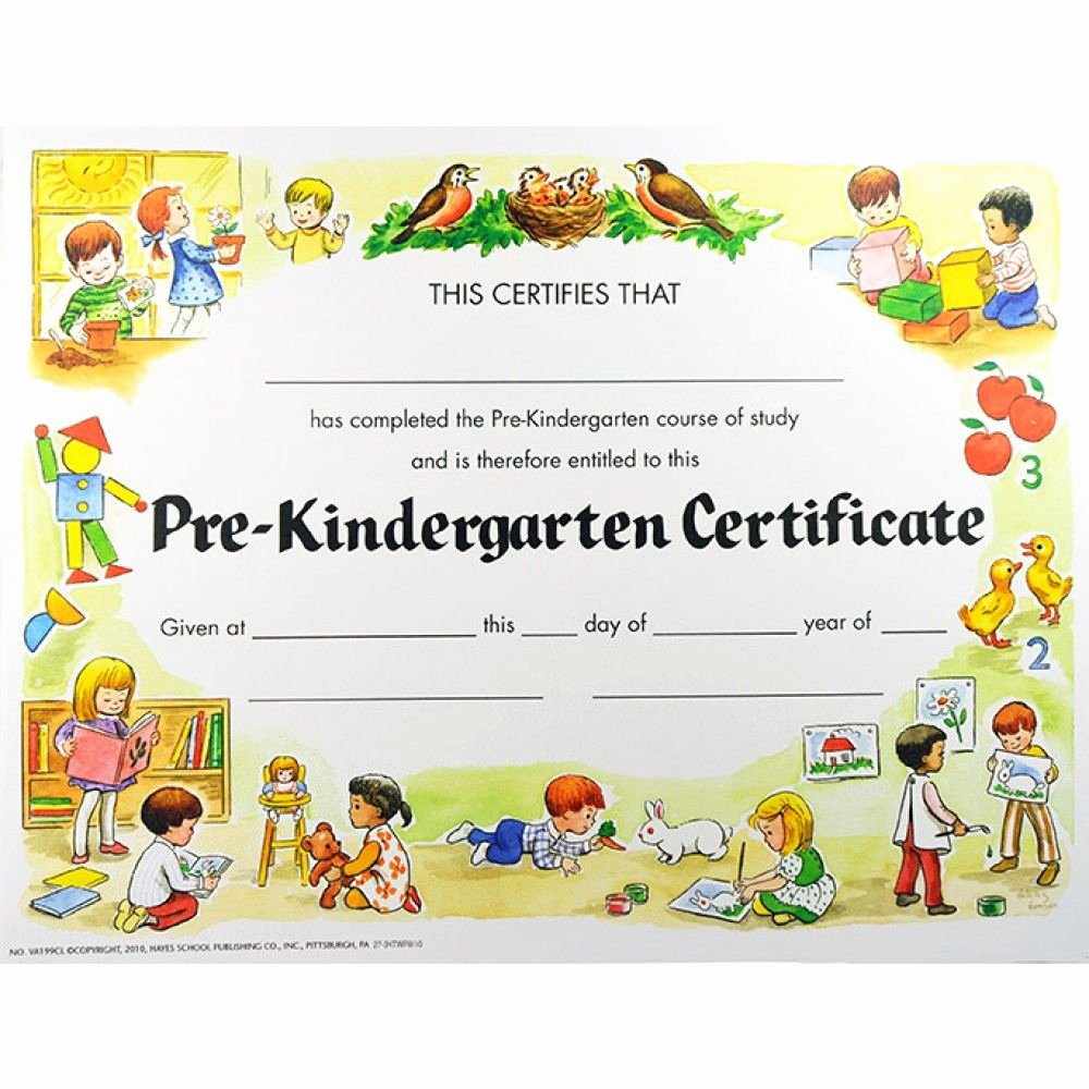 Pre Kindergarten Certificate Template Awesome Pre K Certificates Of Pletion