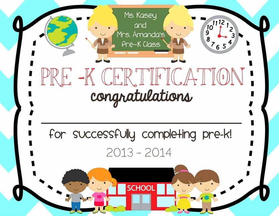 Pre Kindergarten Certificate Template Best Of Pre School Kindergarten Graduation Diploma Certificate