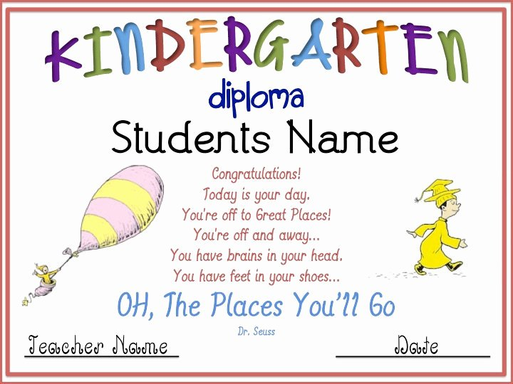 Pre Kindergarten Certificate Template Fresh Kindergarten Graduation Diploma