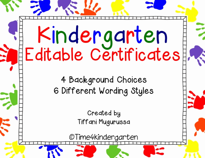 Pre Kindergarten Certificate Template Fresh Kindergarten Pletion Certificates