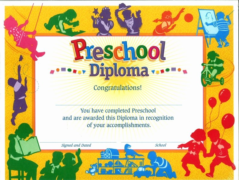 Pre Kindergarten Certificate Template Fresh Preschool Certificate Diploma 30 S