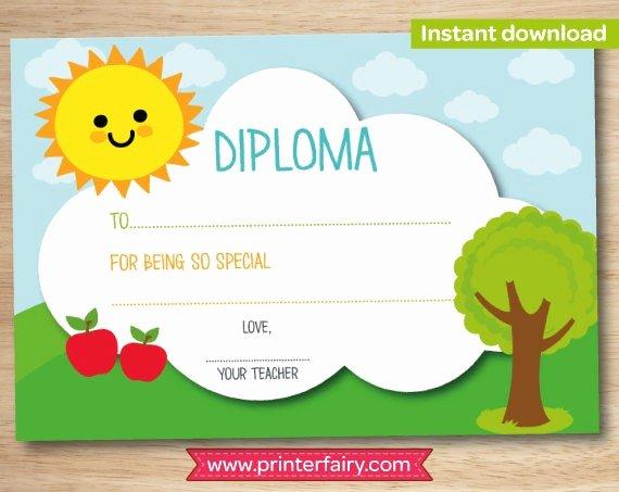 Pre Kindergarten Certificate Template Luxury Preschool Diploma Last Day Of Preschool Preschool Graduation