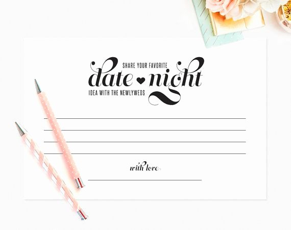 Pre Marriage Counseling Certificate Template Awesome Date Night Ideas Card Date Night Card Wedding Advice