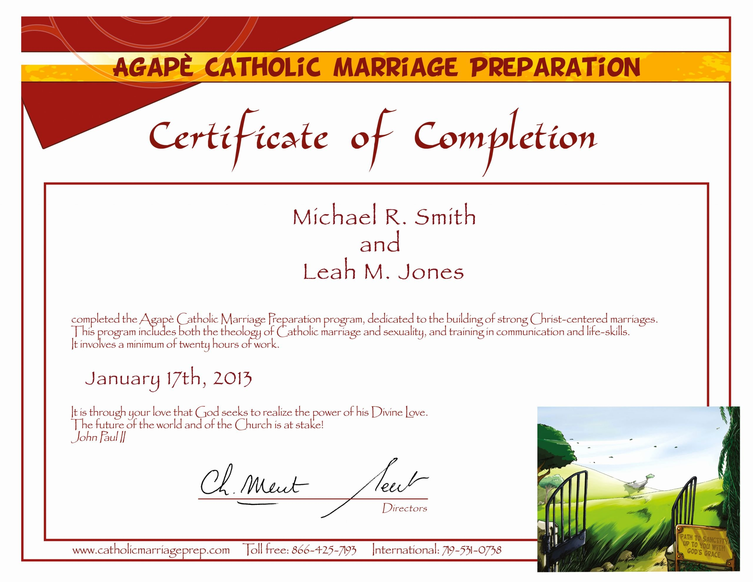 Pre Marriage Counseling Certificate Template Fresh Marriage Counseling Certificate Of Pletion Template