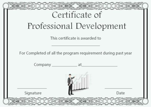 Premarital Counseling Certificate Of Completion Template Luxury Professional Development Certificate Of Pletion