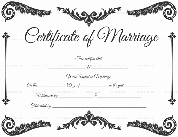 Premarital Counseling Certificate Template Inspirational Marriage Certificate Template 22 Editable for Word