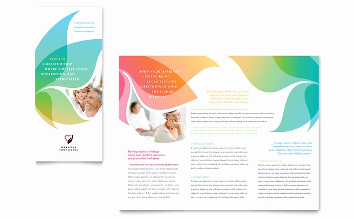 Premarital Counseling Certificate Template Inspirational Marriage Counseling Tri Fold Brochure Template Design