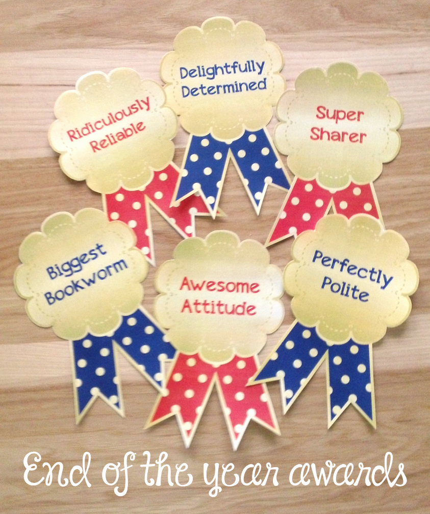 Preschool Awards for Graduation Best Of End Of the Year Awards Ribbon Certificates Perfect for