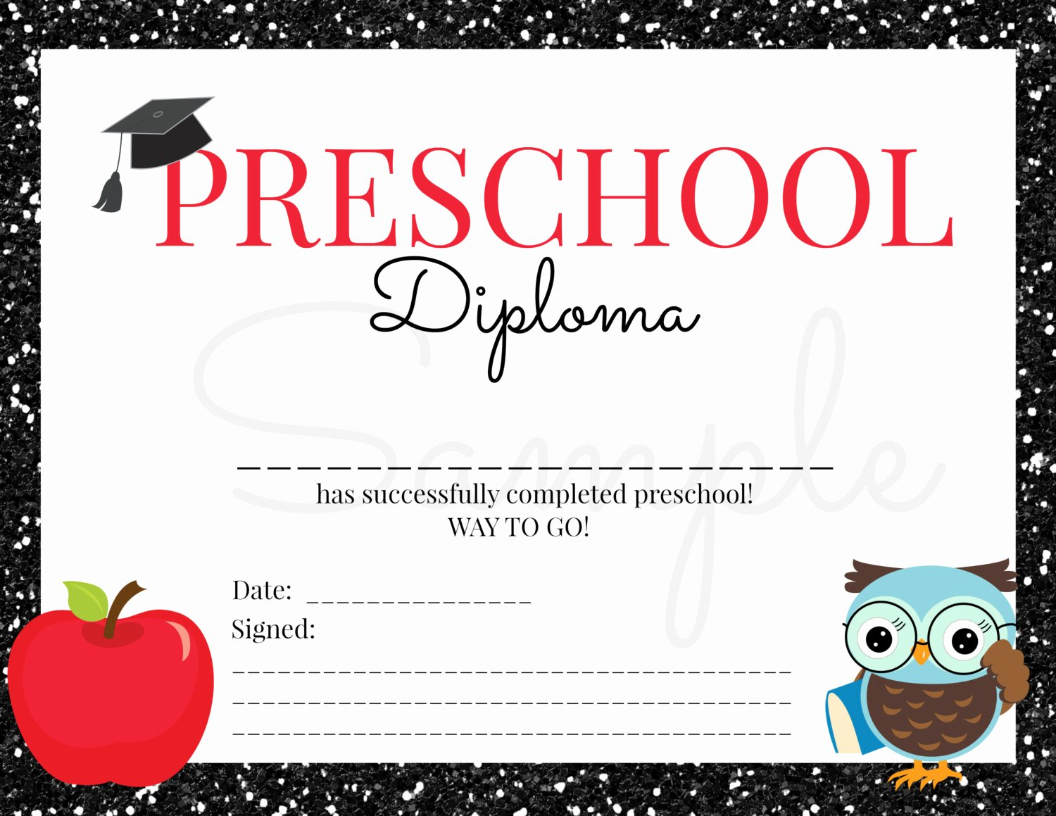 Preschool Awards for Graduation Inspirational Instant Download Preschool Graduation Diploma for Boy