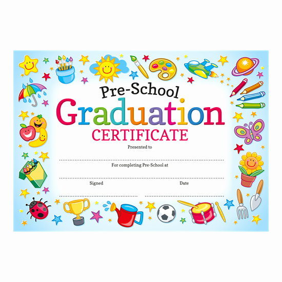 Preschool Awards for Graduation Unique Pre School Graduation Certificate
