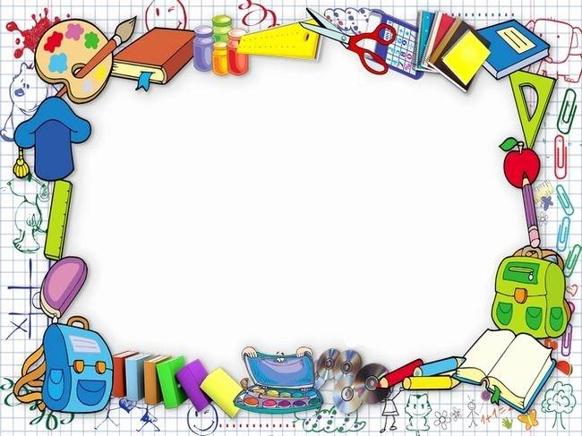 Preschool Borders for Word Beautiful Frame Frame Clipart School Season Stationery Png