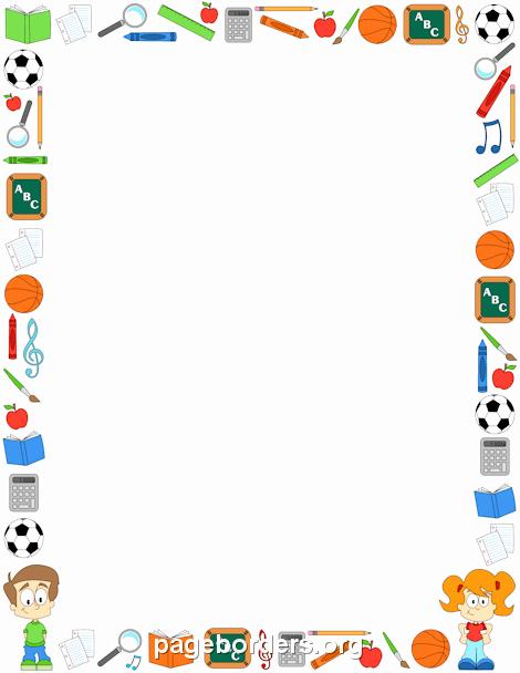 Preschool Borders for Word Fresh Classroom Border Clip Art Page Border and Vector Graphics