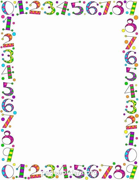 Preschool Borders for Word New Number Border Frames & Borders Pinterest