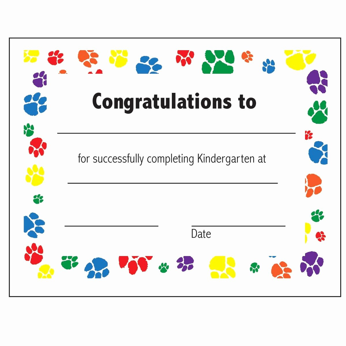 Preschool Certificate Of Completion Awesome Printable Kindergarten Certificate Of Pletion – Ezzy