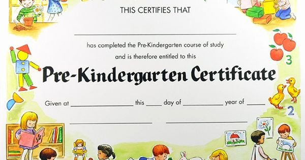 Preschool Certificate Of Completion Luxury Pre K Certificates Of Pletion