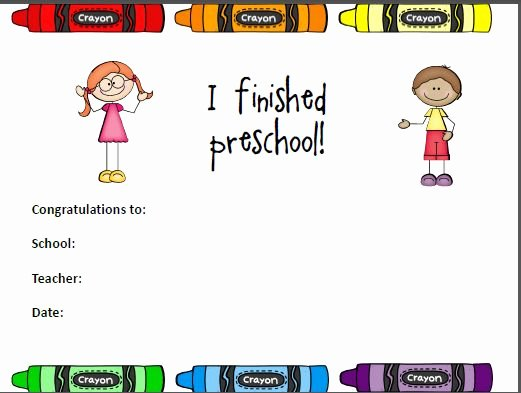 Preschool Certificate Of Completion New Editable Preschool Pletion Certificate