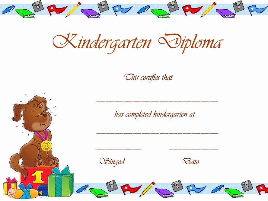 Preschool Certificate Template Free Awesome Free Printable Preschool Graduation Certificates