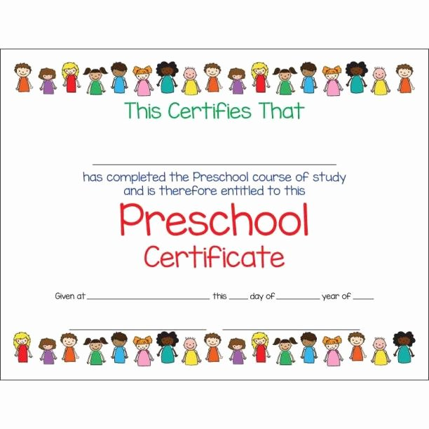 Preschool Certificate Template Free Beautiful 11 Preschool Certificate Templates Pdf