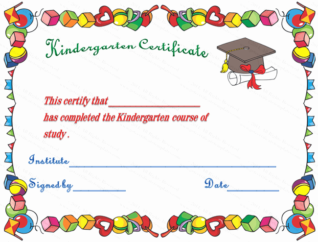 Preschool Certificate Template Free Beautiful softwarenews Blog