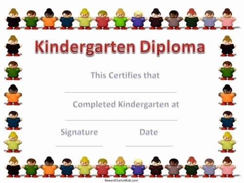 Preschool Certificate Template Free Inspirational Kindergarten Certificates
