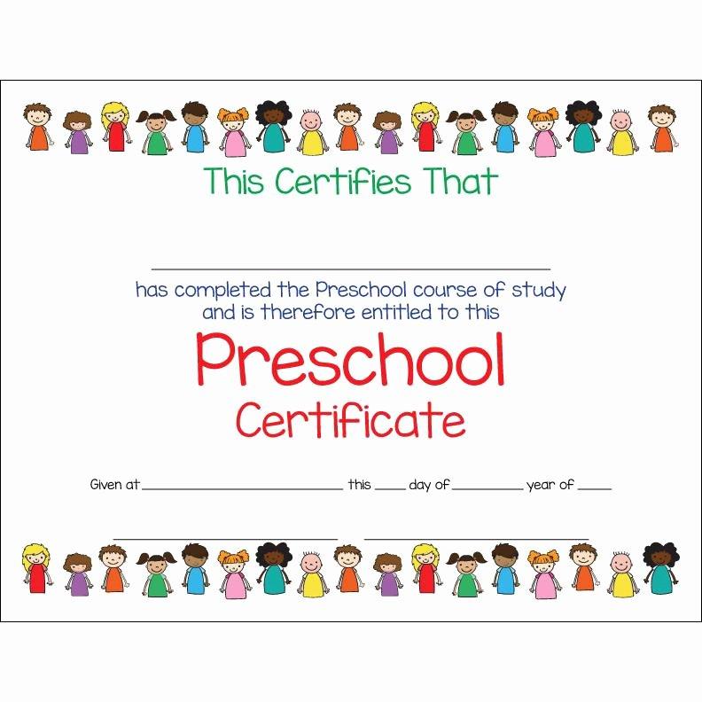 Preschool Certificate Template Free Inspirational Preschool Certificate