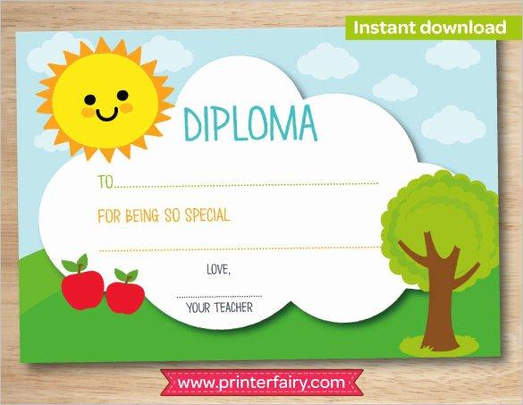 Preschool Certificate Template Free New Certificate Template 50 Printable Word Excel Pdf Psd