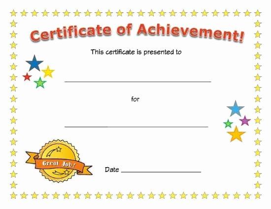 Preschool Certificate Templates Free Inspirational Certificate Of Achievement Esl