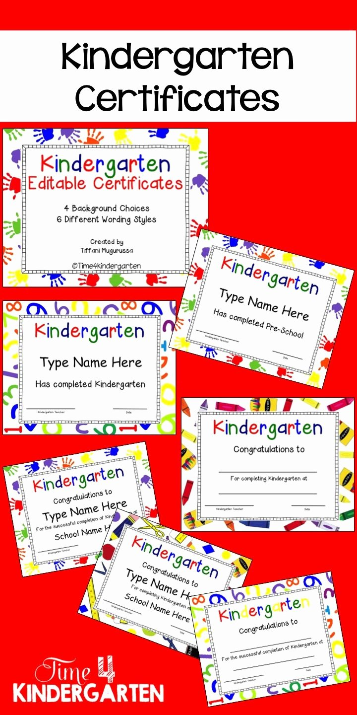 Preschool Certificates Of Completion Luxury Kindergarten Certificates Pletion Diploma Editable