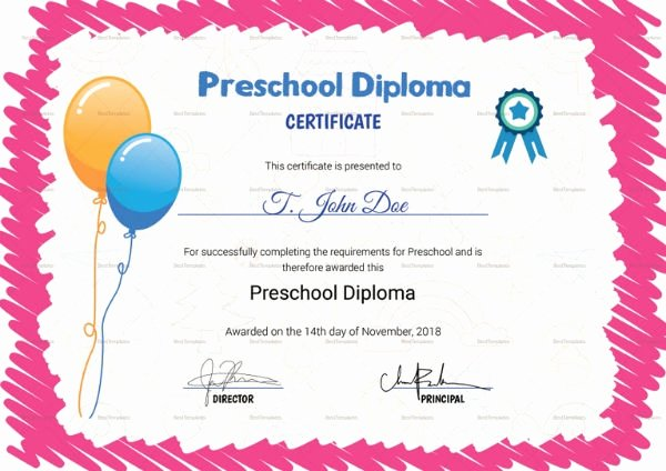 Preschool Certificates Of Completion New 10 Kindergarten Certificate Of Pletion Templates