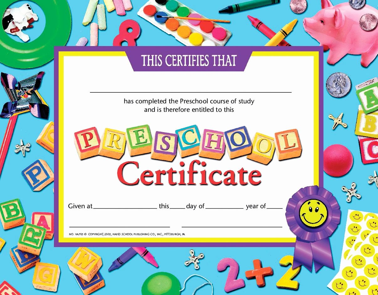 Preschool Certificates Of Completion New Preschool Certificate انجليزي