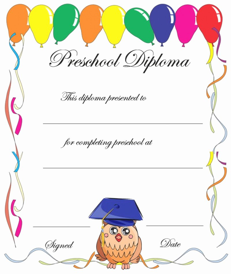 Preschool Completion Certificate Templates Best Of 11 Preschool Certificate Templates Pdf