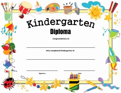 Preschool Completion Certificate Templates Best Of Free Printable Kindergarten Diploma