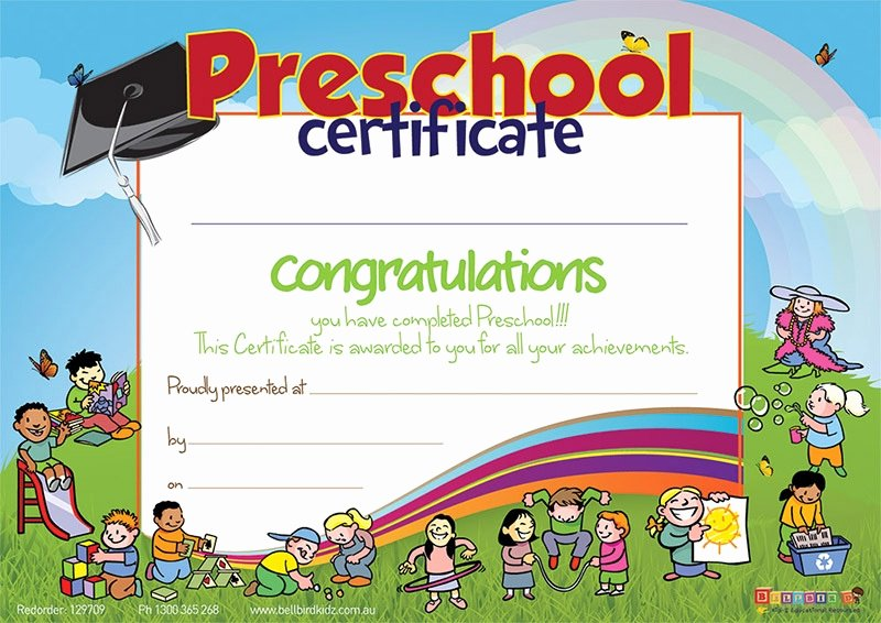 Preschool Completion Certificate Templates Inspirational 11 Preschool Certificate Templates Pdf
