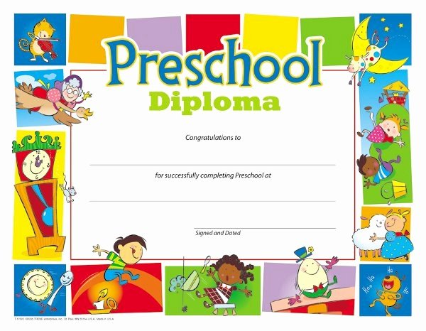 Preschool Completion Certificate Templates Luxury Preschool Certificates & Diplomas T School Library