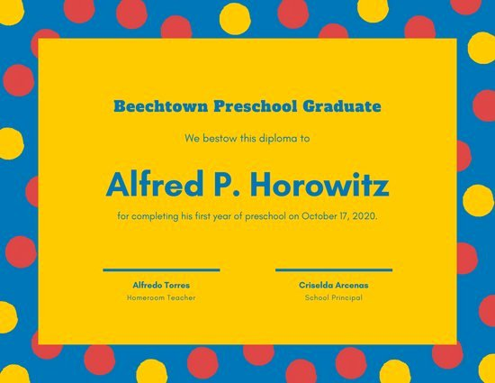 Preschool Diploma Template Free New Customize 60 Diploma Certificate Templates Online Canva