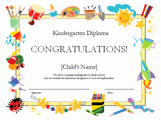 Preschool Diploma Template Free New Preschool Certificates On Pinterest