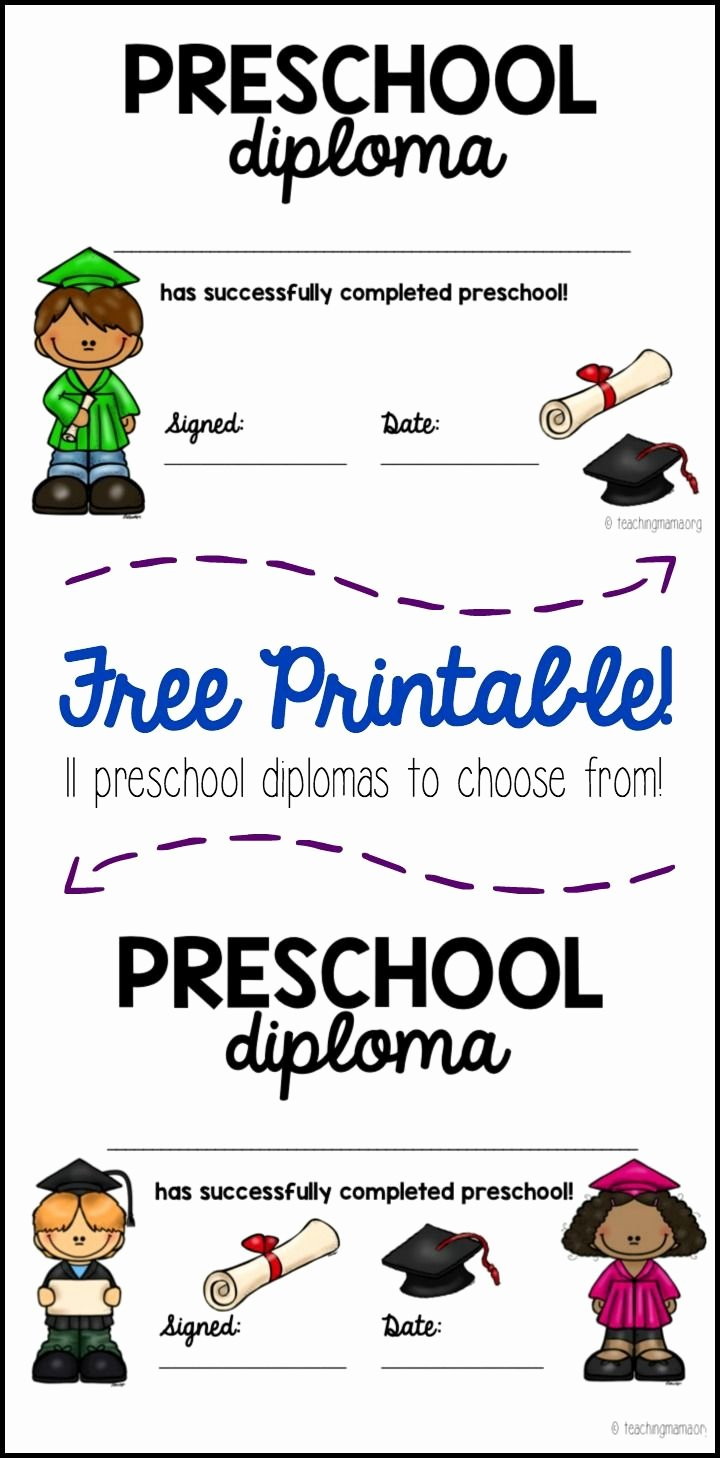 Preschool Diplomas Templates Free Awesome 35 Best Kid Diploma Certificate Template Images On