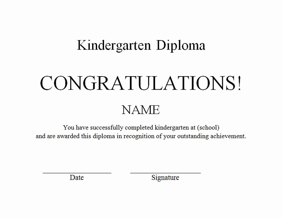 Preschool Diplomas Templates Free New Awards Diplomas